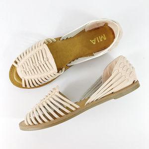 [MIA] Rose Faux Leather Huarache Sandals NEW